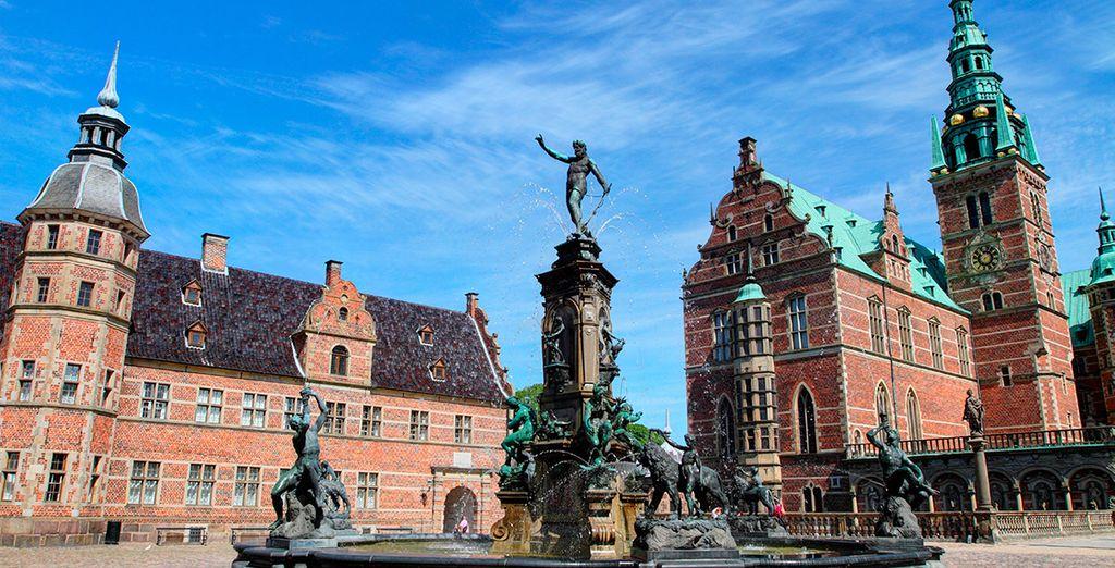 El Castillo de Frederiksborg, de estilo renacentista