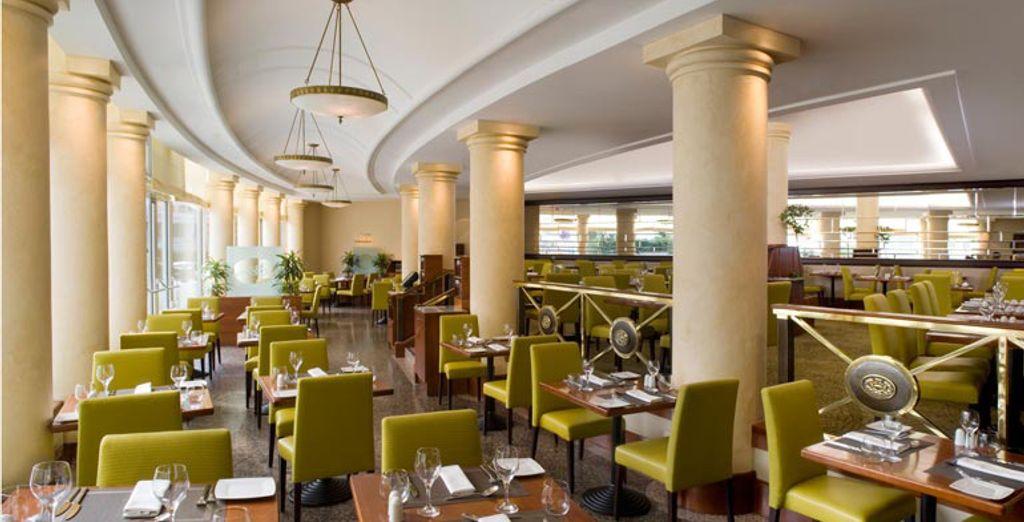 Cocina mediterránea en el restaurante Olive
