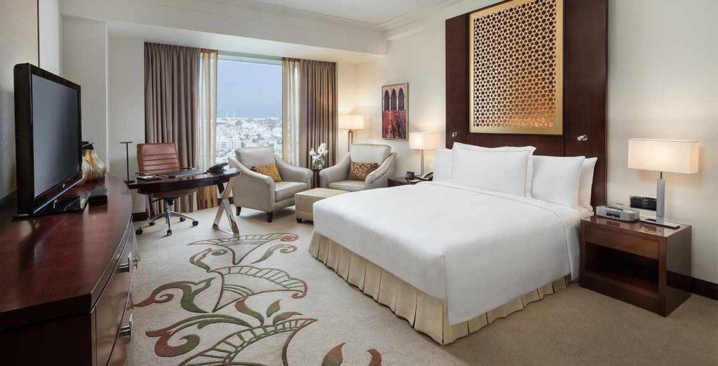 Disfrutarás de una habitación Deluxe con vistas al Mar