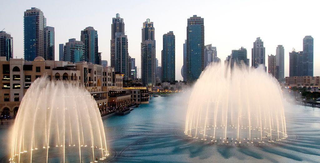 ¡Por la noche Dubai también es un espectáculo!