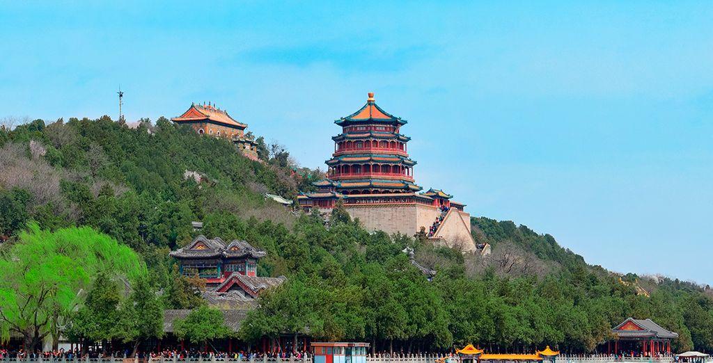 Vistas del Palacio de Verano en Pekín
