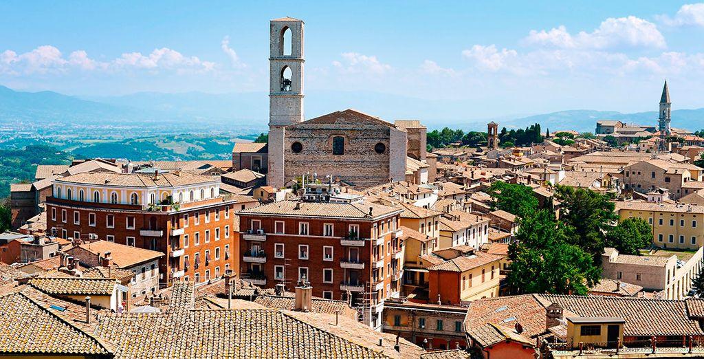 No olvides visitar la encantadora Perugia...