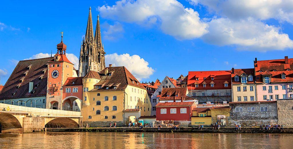 Ratisbona, en la confluencia de los ríos Danubio y Regen