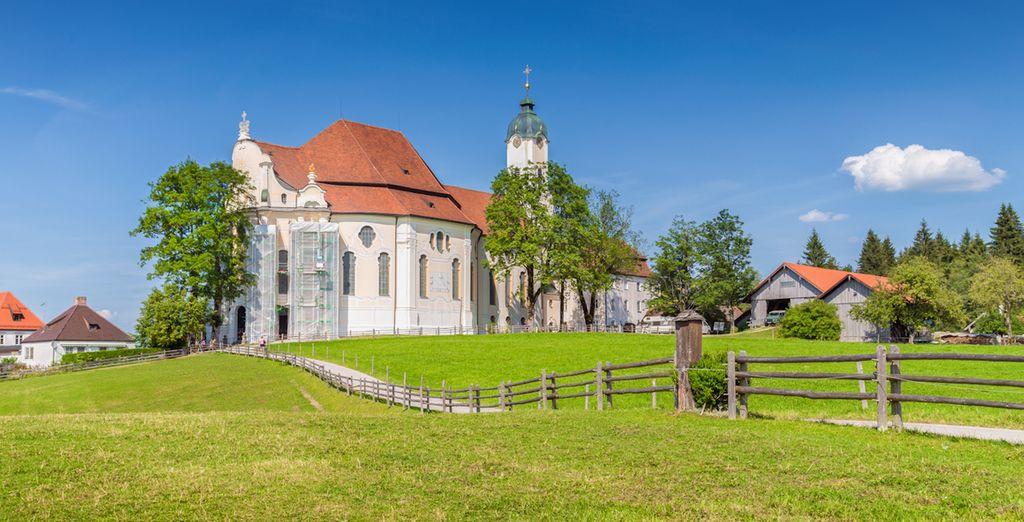 En Wieskirche visitarás la iglesia de la Pradera