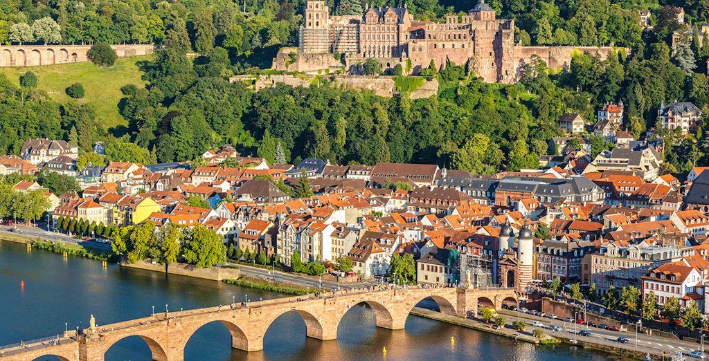 En Heidelberg, subirás al famoso castillo para disfrutar de las vistas