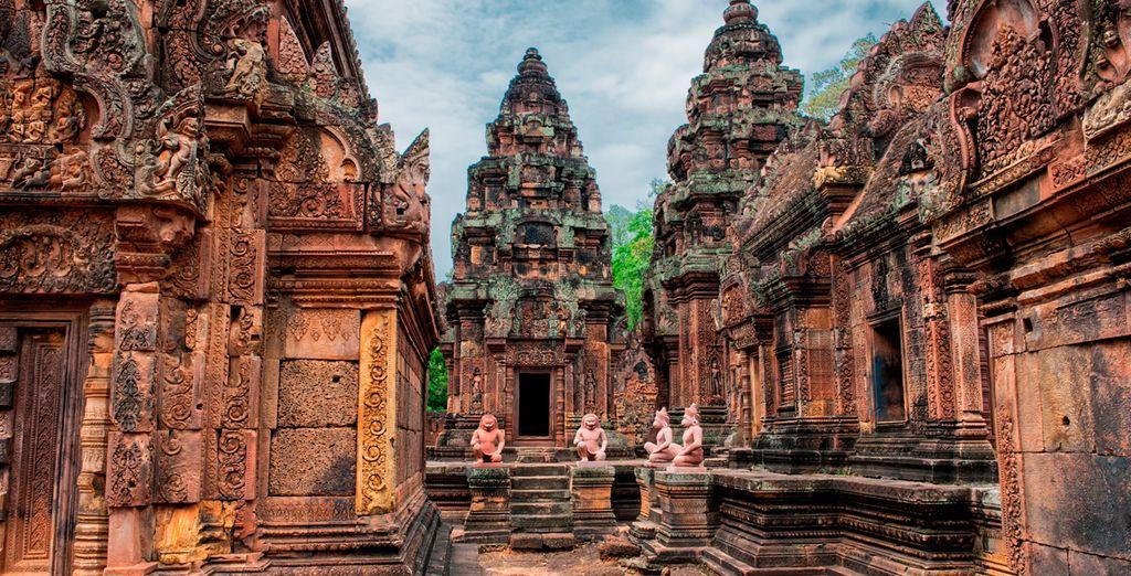 Disfruta del templo Banteay Srei