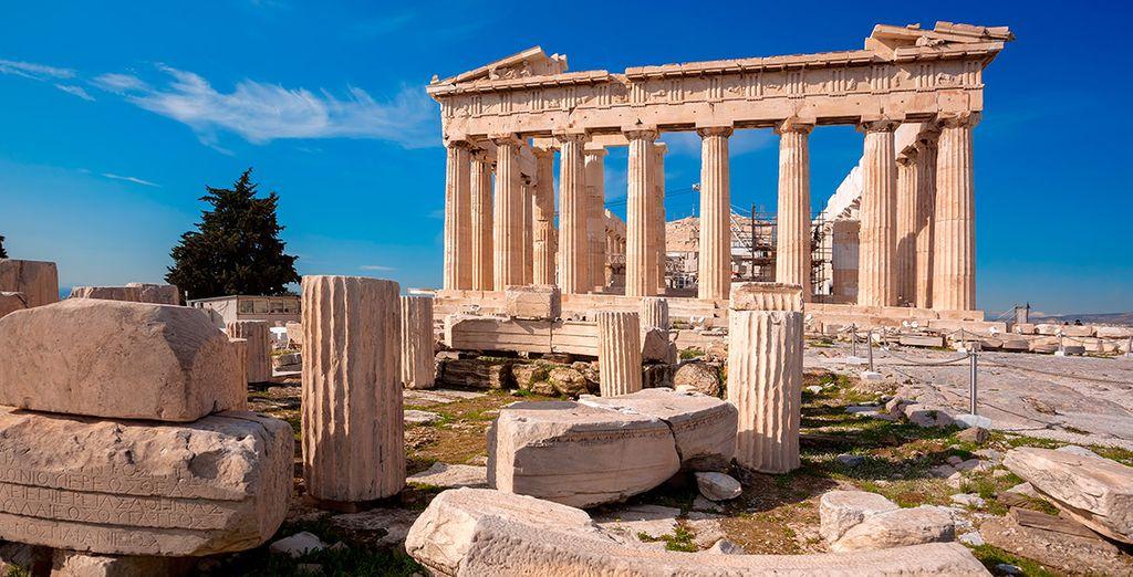 ... y fotografíate junto al Partenón