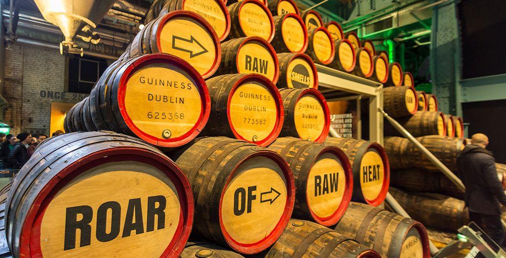 No pierdas la ocasión para visitar la fábrica de cerveza de Guinness en Dublín