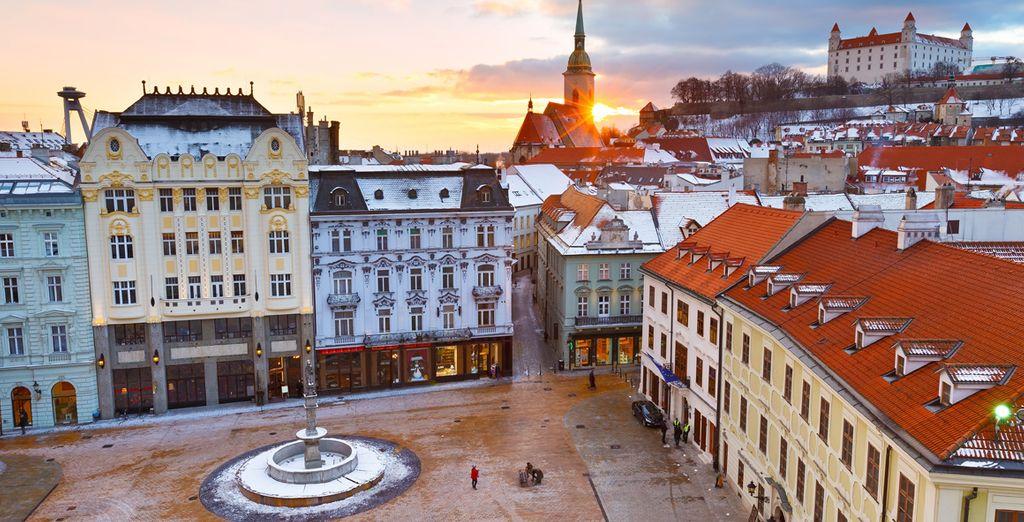 Pondrás rumbo a hacia Bratislava, capital de Eslovaquia