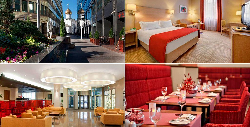 Te alojarás en el Holiday Inn Lesnaya 4* de Moscú