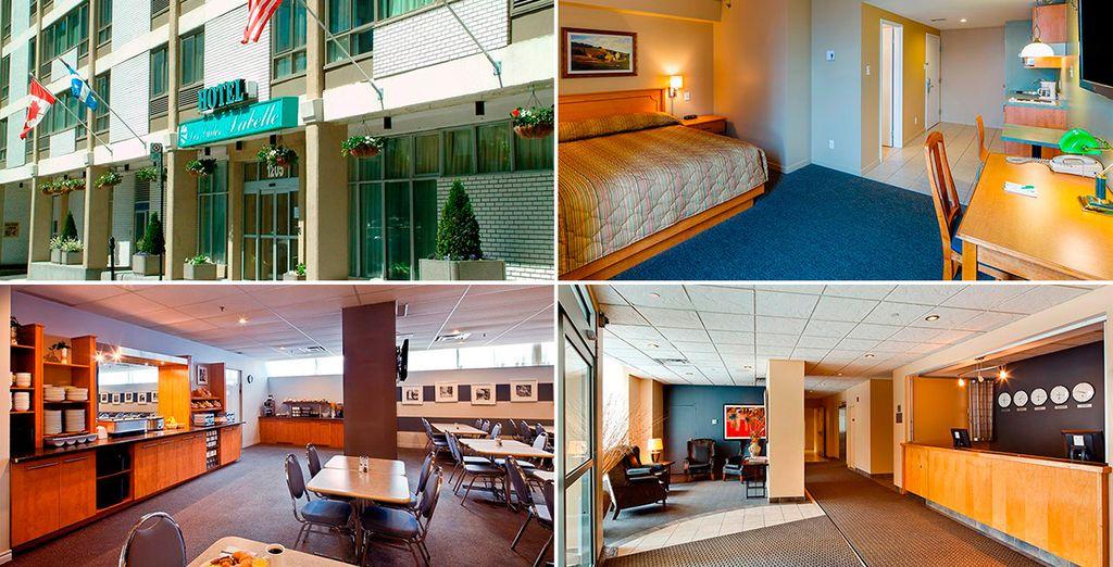 En Montreal te alojarás en el hotel Les Suites Labelle 3*