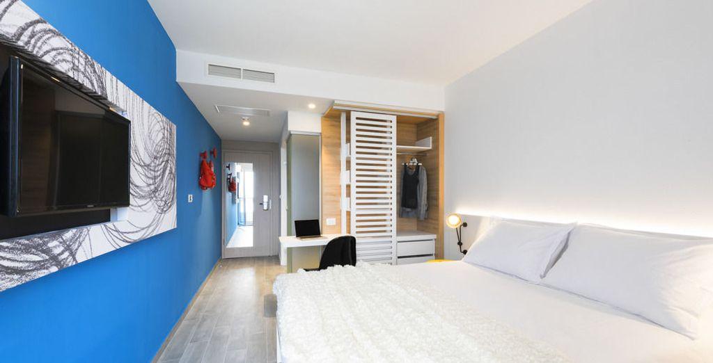 Descansarás en una habitación moderna
