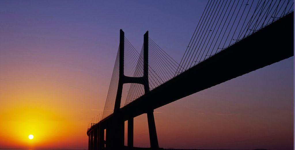 El famoso puente del 25 de Abril