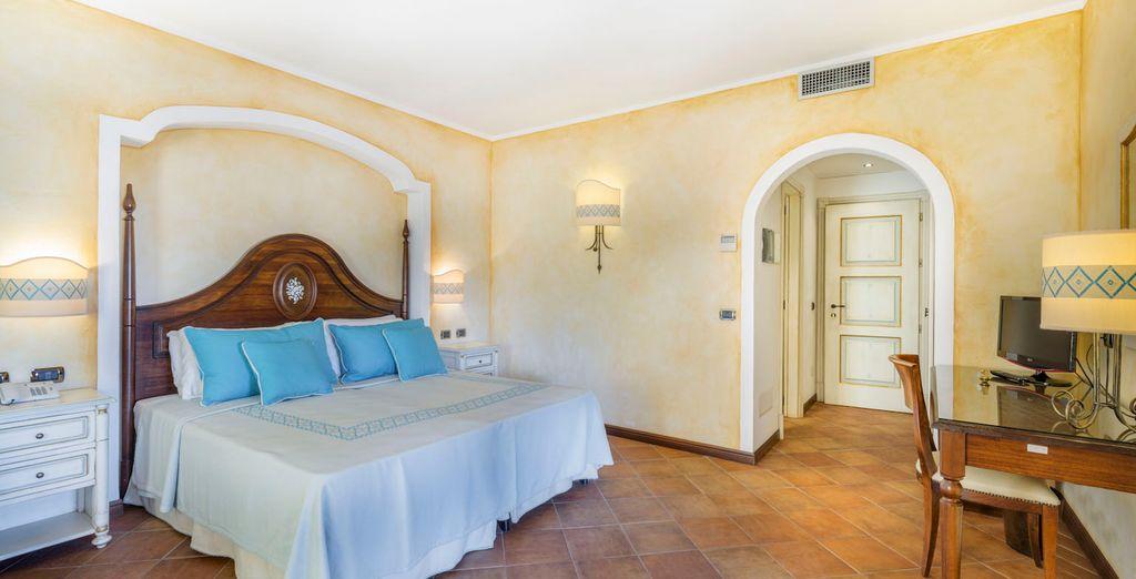 Te alojarás en una fantástica habitación Classic con opción a vistas al mar