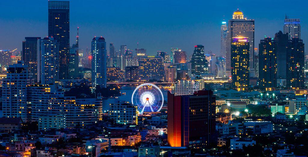 Tu viaje empezará en la capital tailandesa, Bangkok