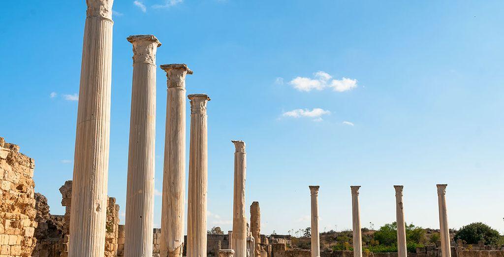 Para ver las ruinas romanas de Salamina