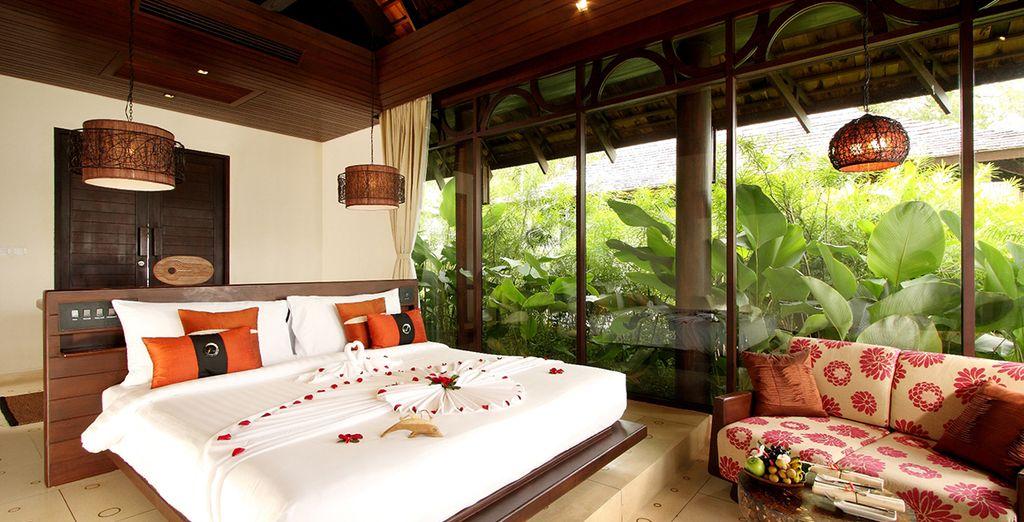 Relájate en una Villa Deluxe con vistas al mar