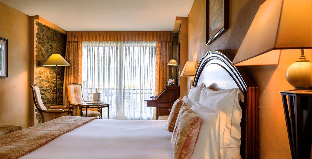 Descansa en tu habitación con terraza