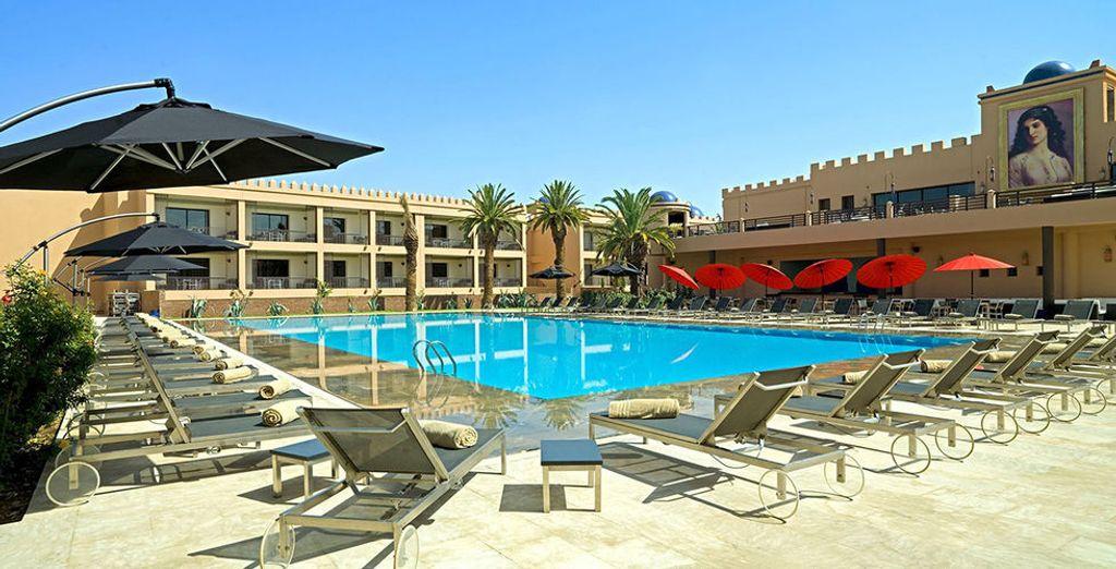 Con una magnífica piscina para disfrutar de los mejores días de sol
