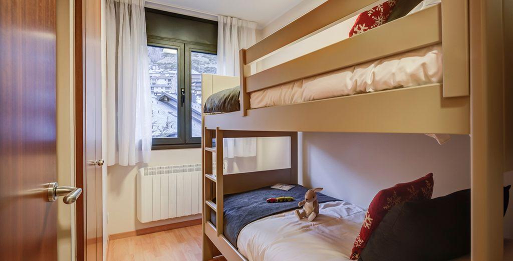 Hasta apartamentos con literas para los más pequeños