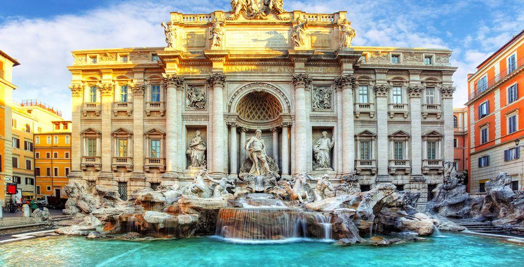 La célebre Fontana di Trevi, una visita imperdible