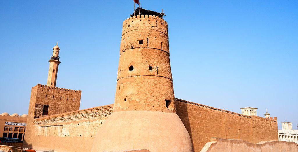 La zona de Bastakiya y sus fascinantes casas antiguas