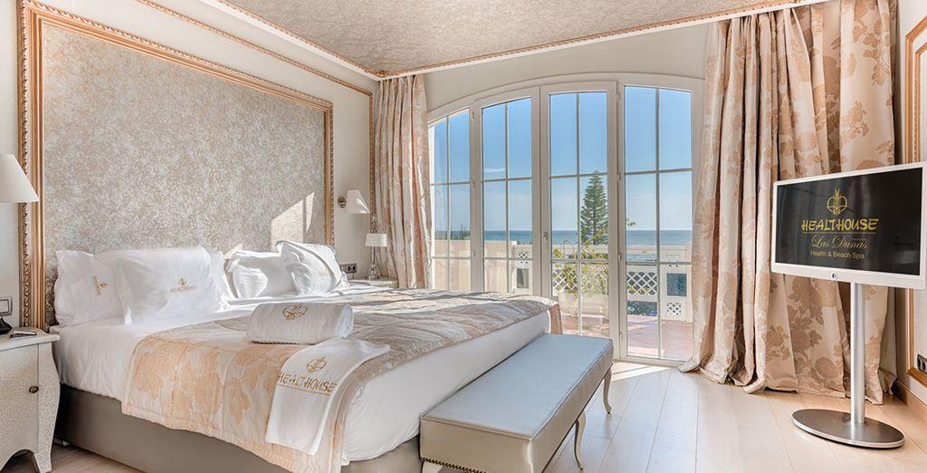 Descansarás en una Suite Deluxe Vista Mar