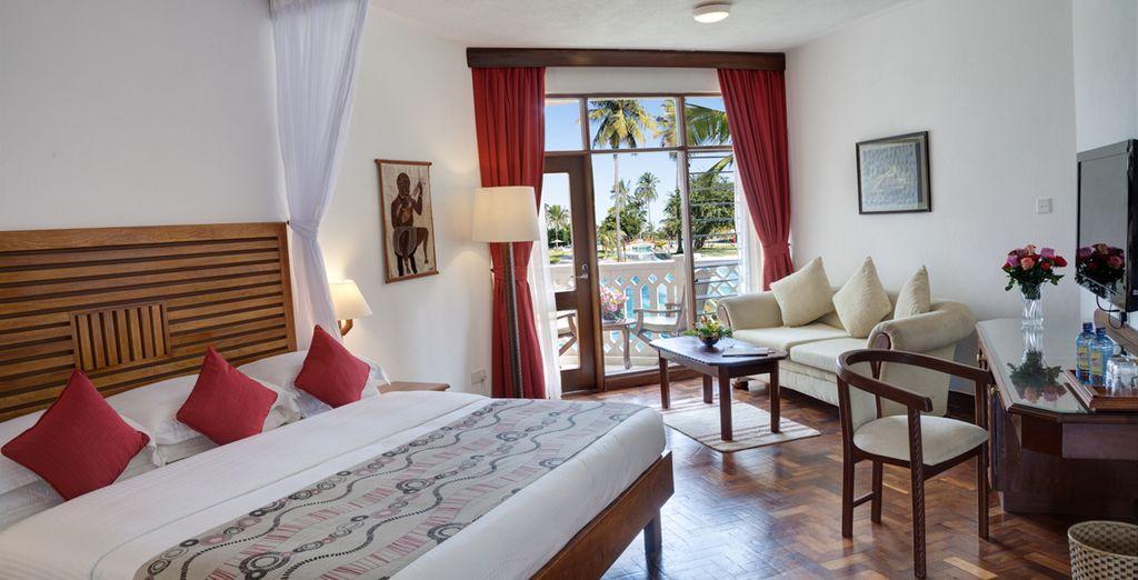 Te encantará tu habitación por su estilo acogedor y exótico