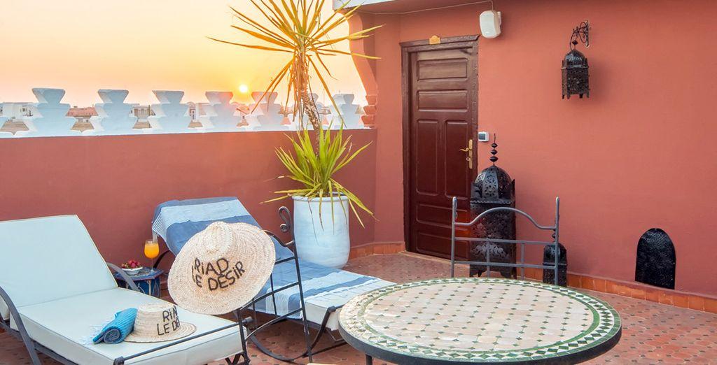 Relájate bajo el sol de Marrakech