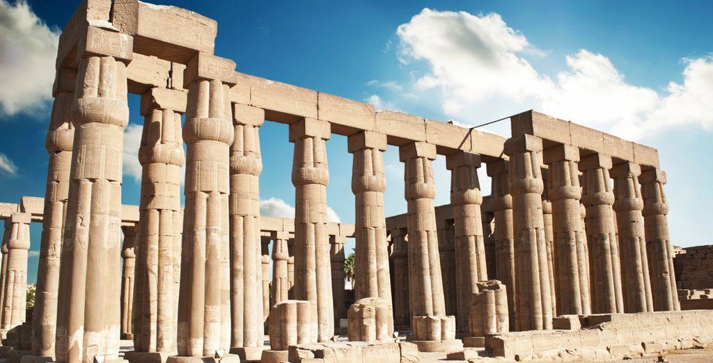 Visitarás las ruinas de Luxor