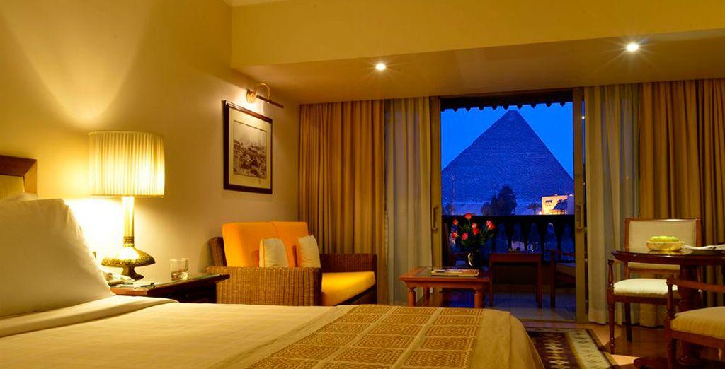 Descansa como te mereces en tu habitación con Vistas a las Pirámides