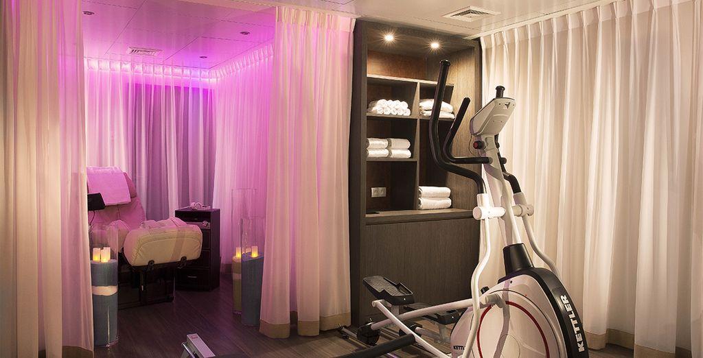 Cultiva cuerpo y mente en el espacio de bienestar del hotel