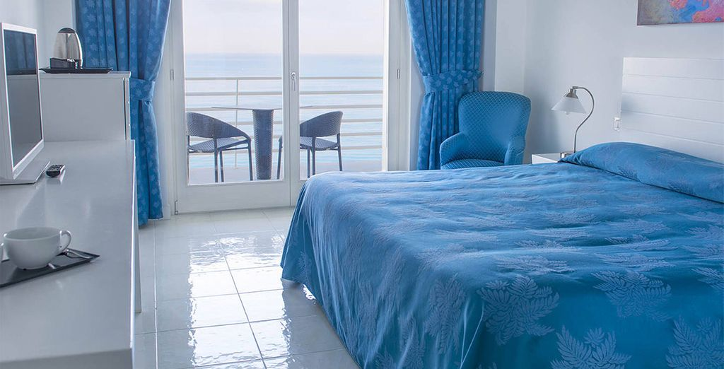 Te presentamos tu habitación Superior con vistas al mar