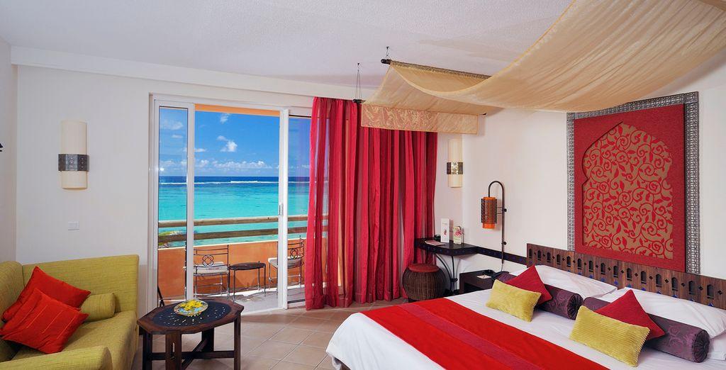 O una habitación Deluxe Frente a la Playa