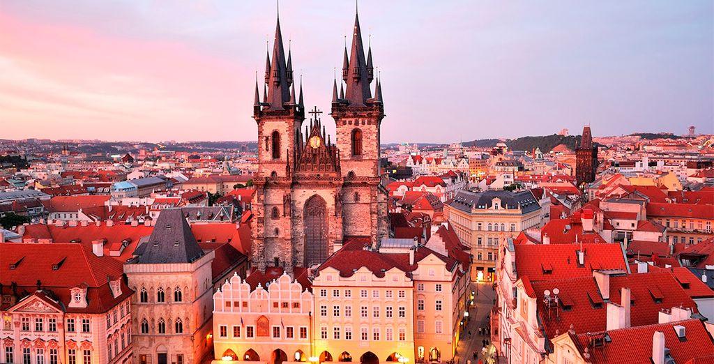 Enamórate de los hermosos atardeceres desde el centro histórico