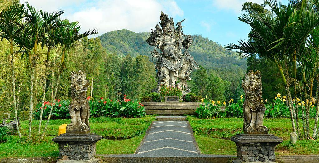 El jardín botánico de Bedugul