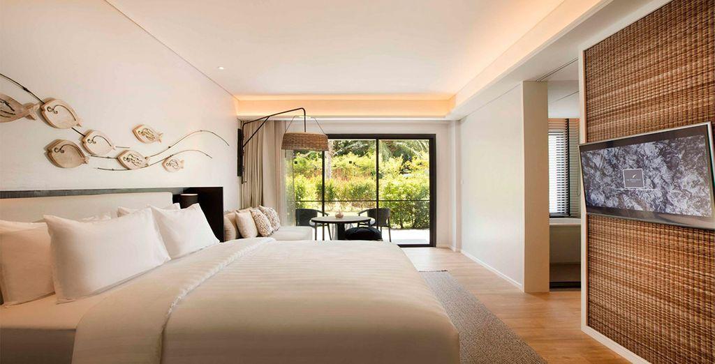 Descansarás en una amplia y luminosa habitación