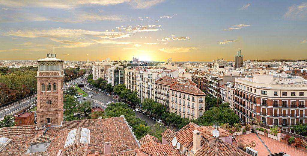 Una bonita panorámica sobre la capital