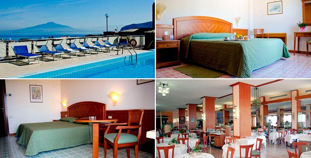 Grand Cesare Augusto 4*, uno de los hoteles que podrás elegir en Sorrento