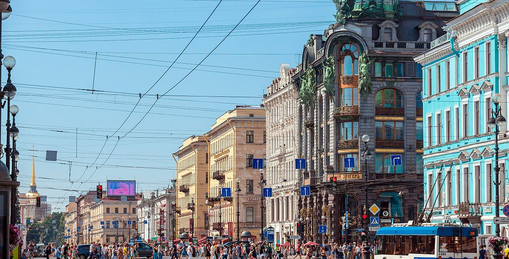 La conocida avenida Nevskiy