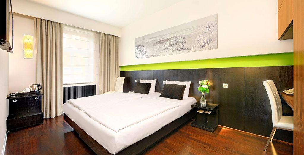 Tu habitación en Ametyst Hotel Praha 4*