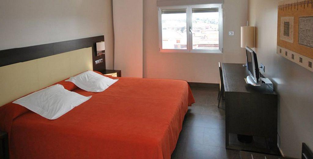 Descansarás en una cómoda habitación Doble o Twin