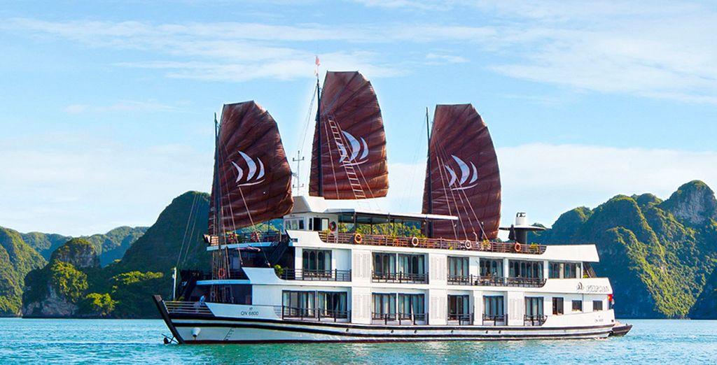 En Halong podrás elegir entre Pelican Halong Cruises 5*...