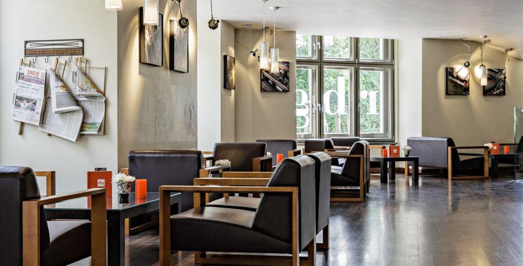 Un moderno y pintoresco hotel