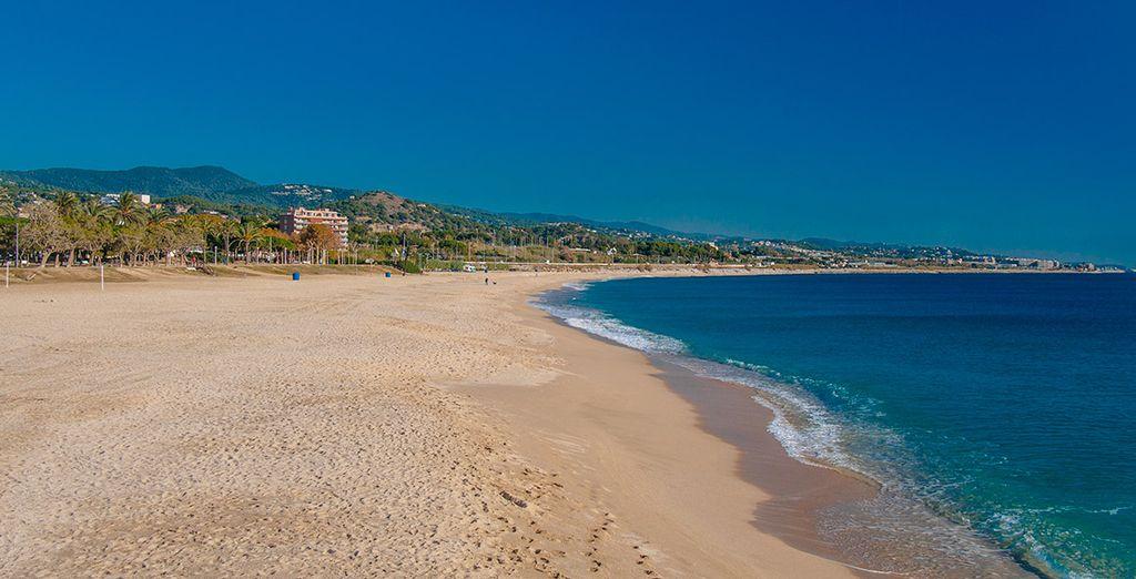 A escasa distancia de Mataró, ubicada en la Costa del Maresme