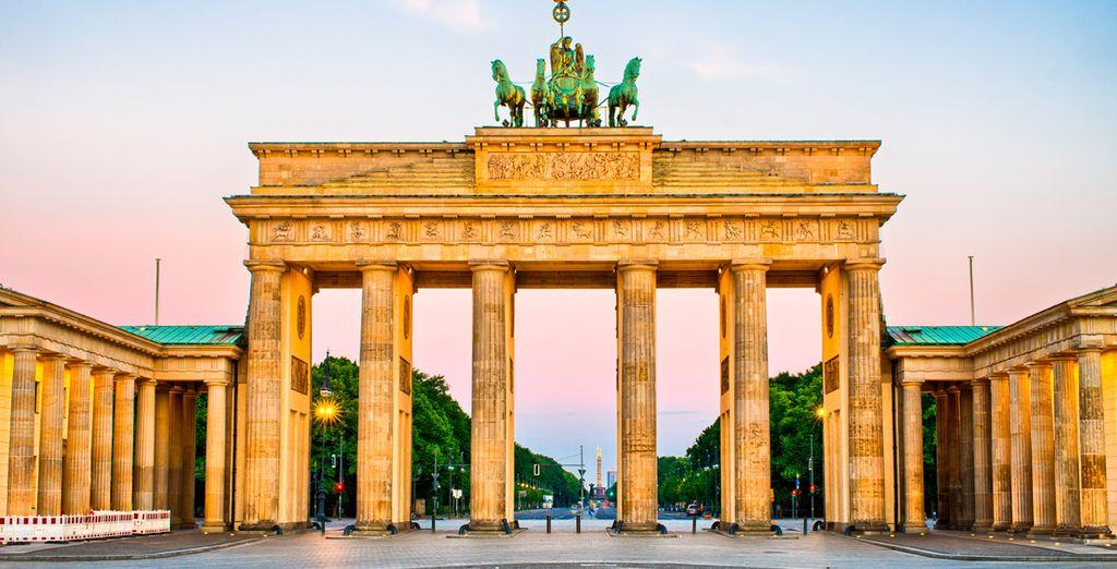 La Puerta de Brandeburgo, uno de los emblemas de Berlín
