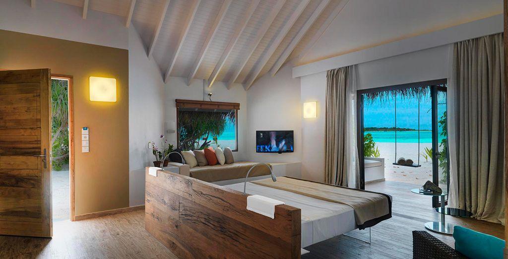 O bien descansar en una Beach Suite