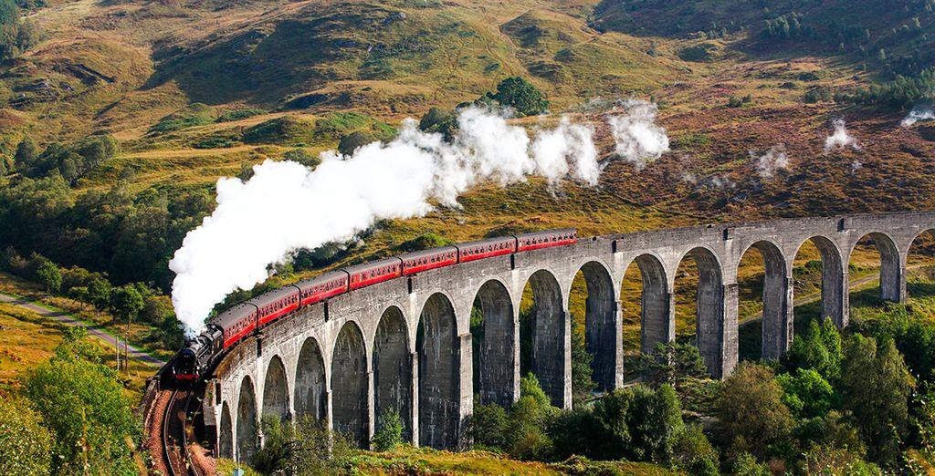 El famoso viaducto de Glenfinnan, donde se rodó Harry Potter