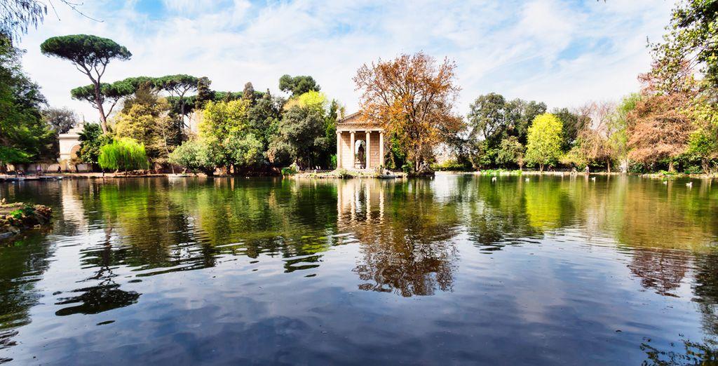 Date un paseo por la romántica Villa Borghese