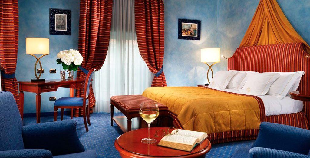 Tu estancia se puede situar en el castillo, el palacio o en la zona de los antiguos establos